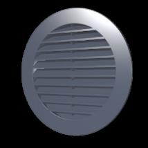 12RKN grey Kerek szellőzőrács, csőcsatlakozóval, D125 mm - Szürke