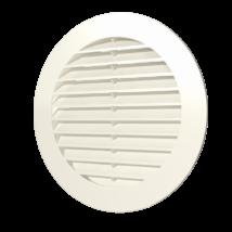 10RKN ivory Kerek szellőzőrács, csőcsatlakozóval, D100 mm - Csont színű
