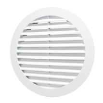 10RKN Kerek szellőzőrács, csőcsatlakozóval, D100 mm