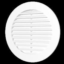 10RKS Kerek műanyag szellőzőrács szúnyoghálóval D100 mm