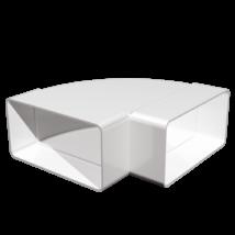511KGP Lapos csatornához vízszintes könyök idom 55X110 mm
