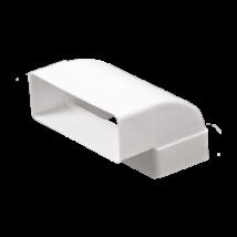 612KVP Lapos csatornához függőleges könyök idom 60X120 mm