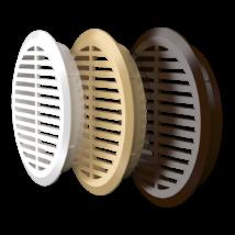 05DP 1/4 brown Kerek szellőzőrács (4 db/csomag) D47 mm BARNA