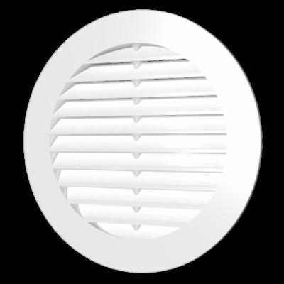 10RK grey Kerek műanyag szellőzőrács D100mm SZÜRKE