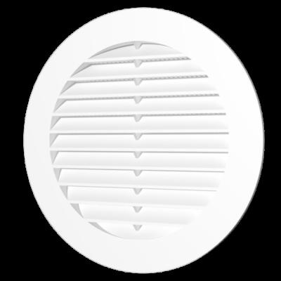 12RKS Kerek műanyag szellőzőrács szúnyoghálóval D125 mm
