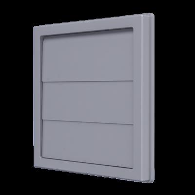 1515K10F grey gravitációs zsalu csőcsatlakozóval D100 mm, szürke