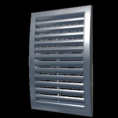 2020RRN grey szellőzőrács csőcsatlakozó nélkül 200X200 mm SZÜRKE