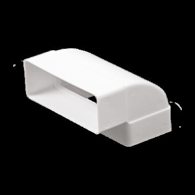 511KVP Lapos csatornához függőleges könyök idom 55X110 mm
