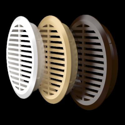 05DP 1/4 beige Kerek szellőzőrács (4 db/csomag) D47 mm BÉZS