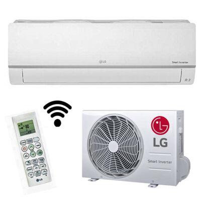 LG PC12SQ Silence Plus inverteres oldalfali monosplit klíma szett gyári wifi R32 3,5KW