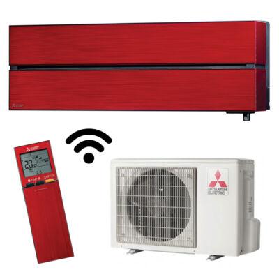 Mitsubishi MSZ/MUZ-LN25VGR Luxury rubint piros oldalfali inverteres klíma wifi R32 2,5KW