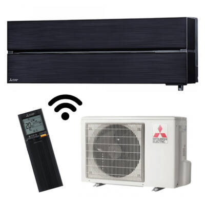 Mitsubishi MSZ/MUZ-LN60VGB Luxury tükrös fekete oldalfali inverteres klíma wifi R32 6KW